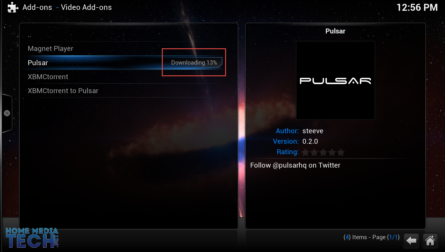 How to install xbmc pulsar
