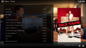 It may take a while to load, but when it does you can browse the media. Simple choose the file you would like to watch