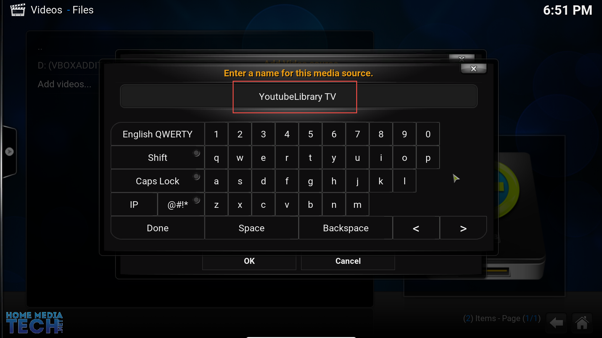 how to go back to home on kodi